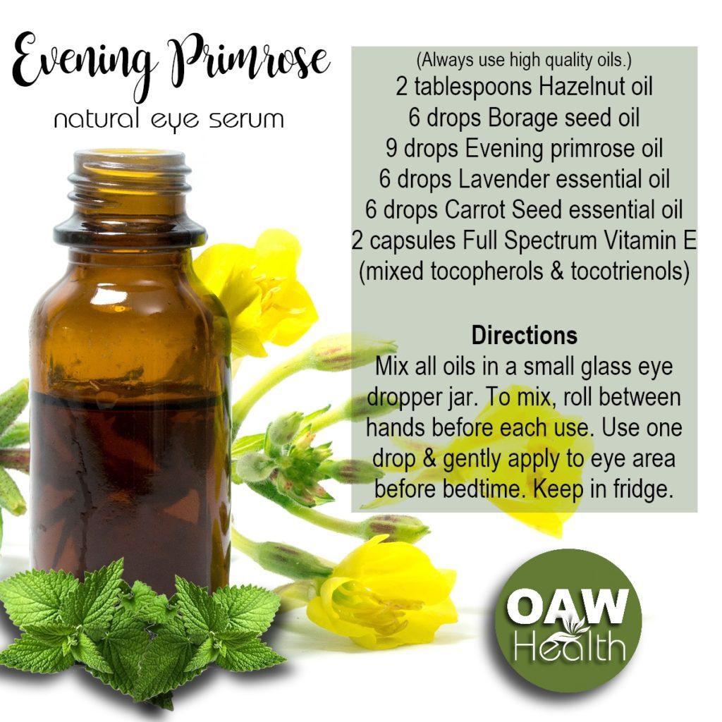 Evening Primrose Natural Eye Serum Recipe
