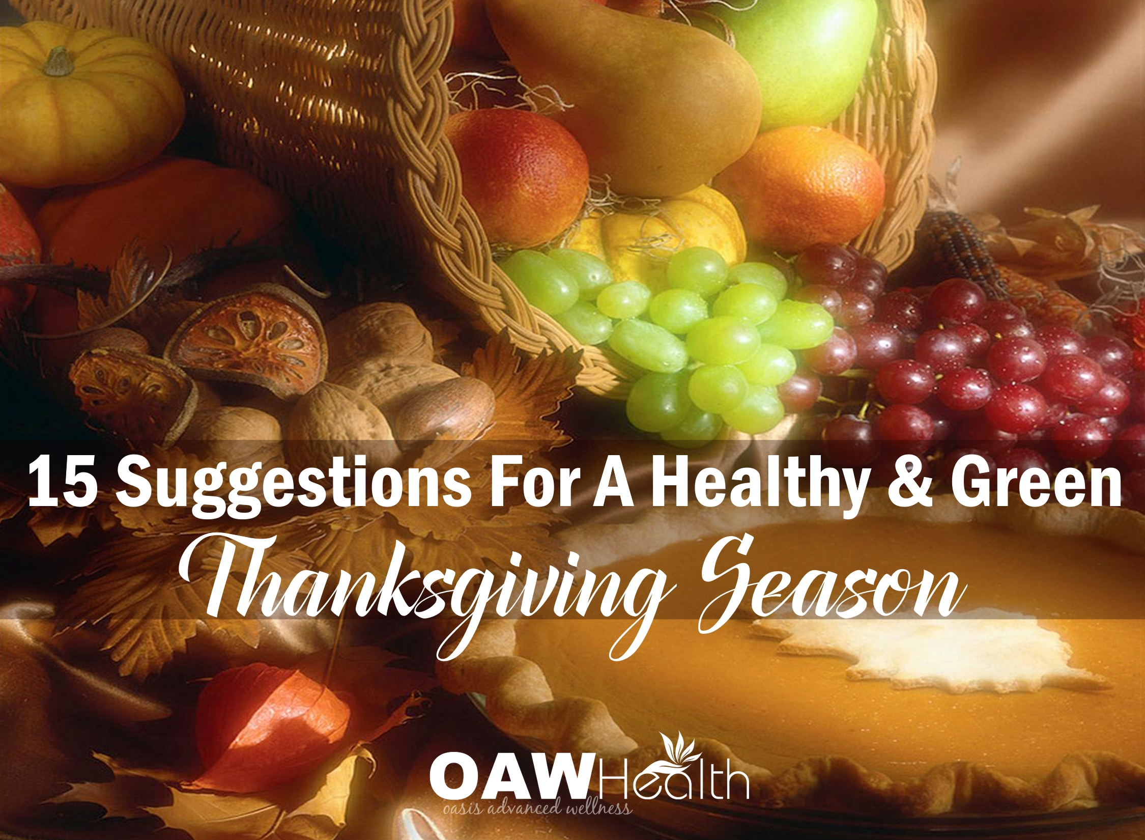 15 Suggestions For a Healthy & Green Thanksgiving Season