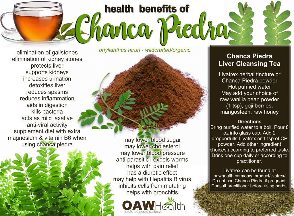 chanca piedra health benefits - 2017
