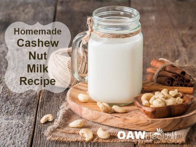 Dairy-Free Cashew Nut Milk Recipe
