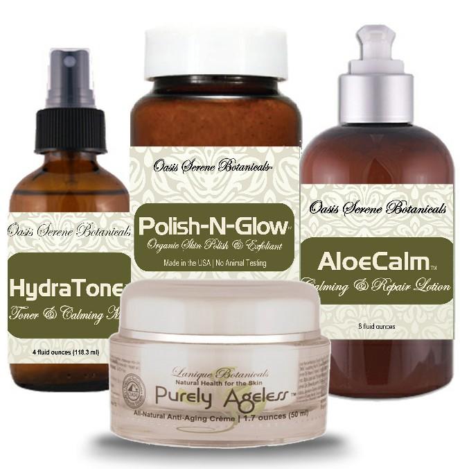 Oasis Serene Botanicals Natural Skincare Starter Package