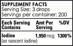 detoxadine-supplement facts - 2017