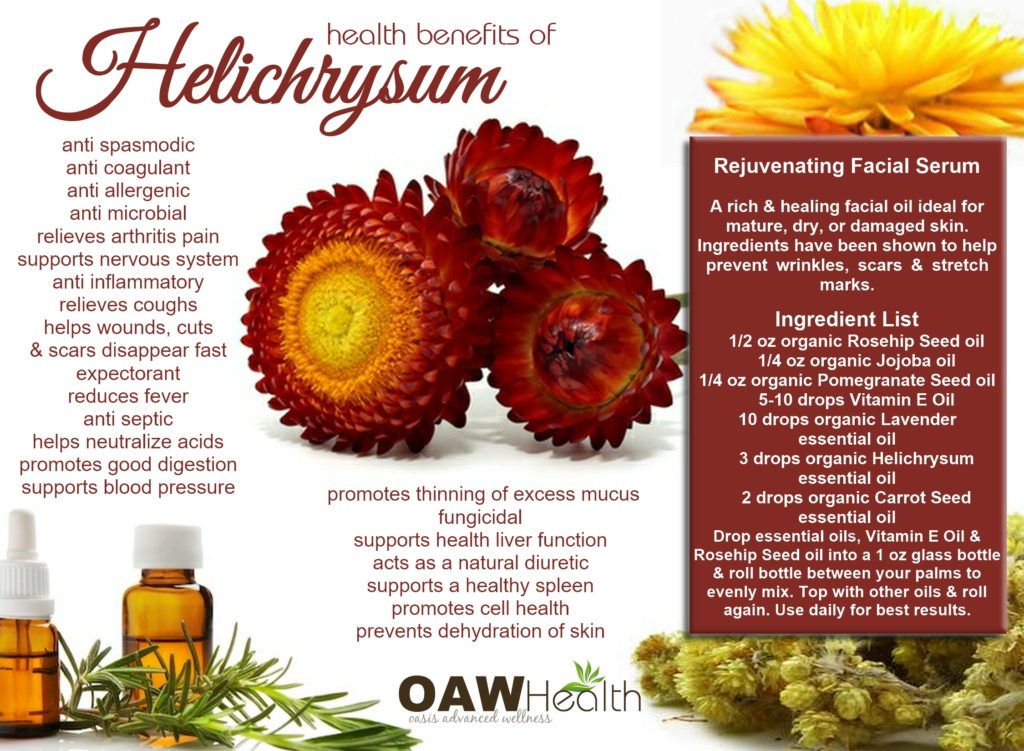 health benefits of helichrysum