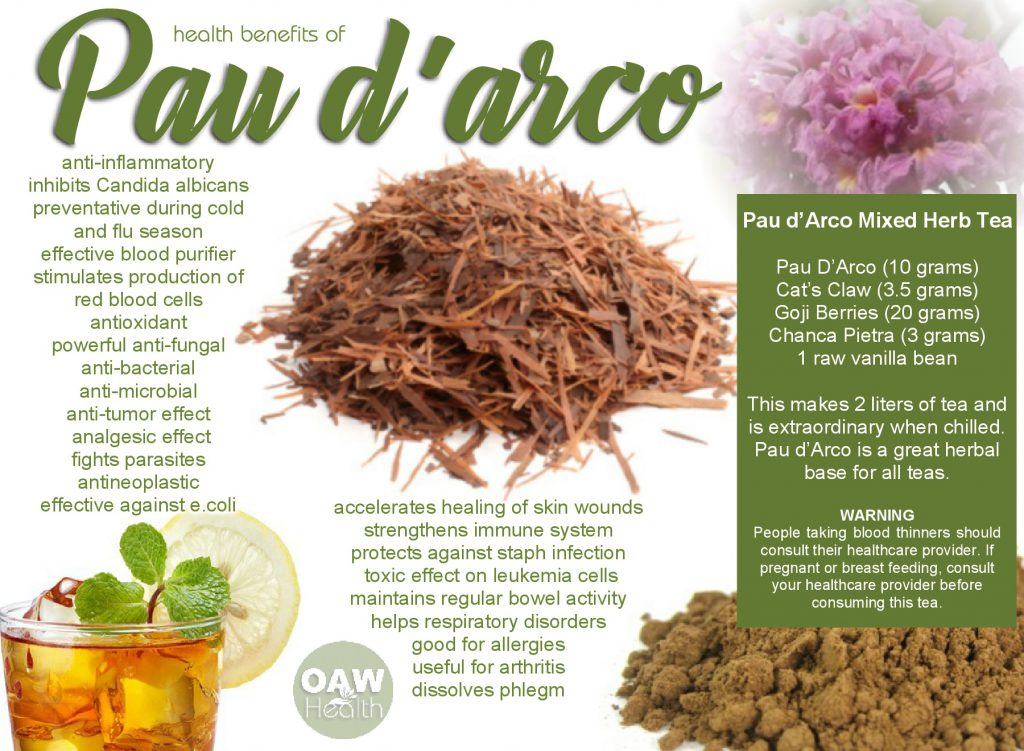 Health benefits of Pau d'Arco Tea