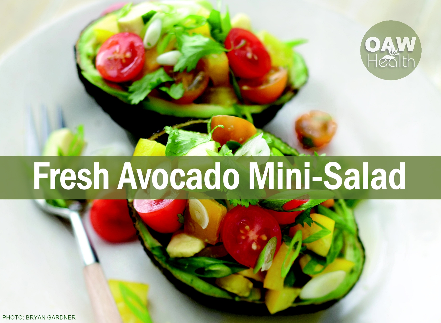Avocado with Bell Pepper and Tomatoes Mini Salad