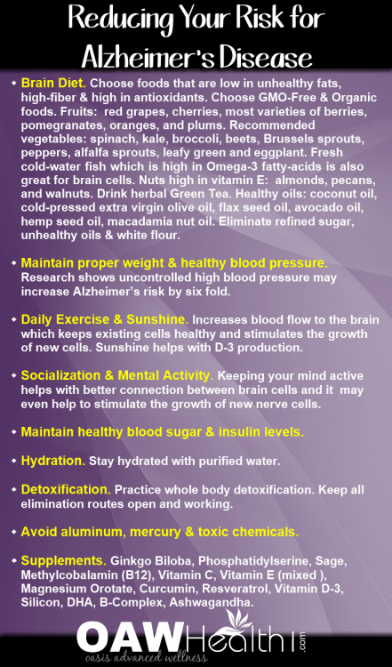 alzheimers disease - reduce your risk