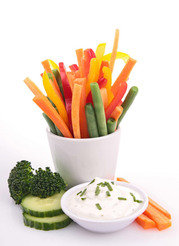 fresh vegetables in cup