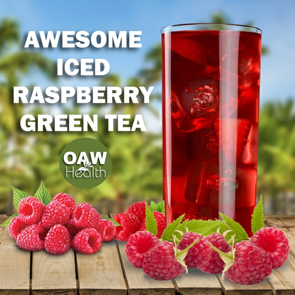 Awesome Iced Raspberry Green Tea