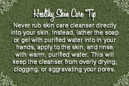 Natural Skin Care Tip