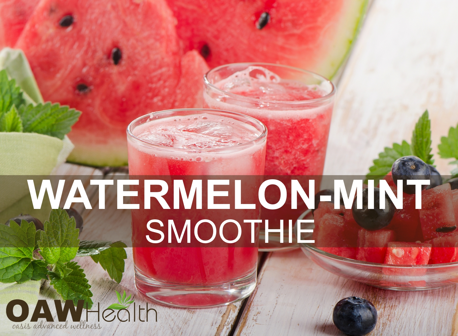 Watermelon Smoothie with Mint