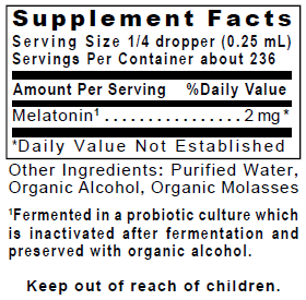 Melatonin-ND product label