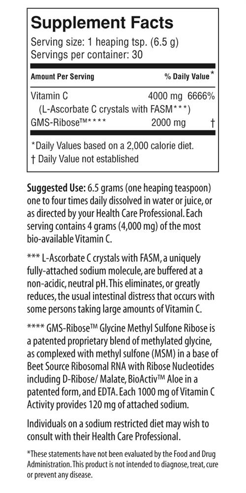 Vitality C Supplement Facts