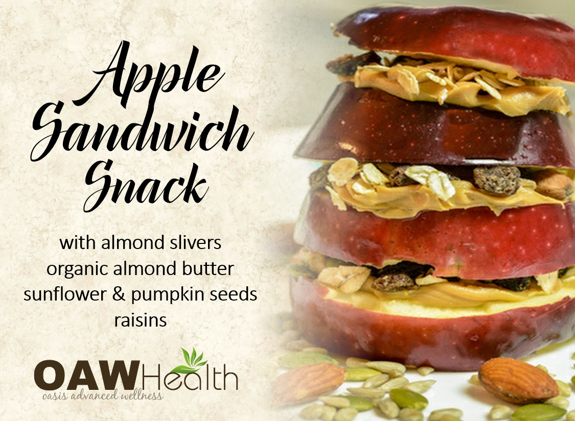 Organic Apple Sandwich Snack
