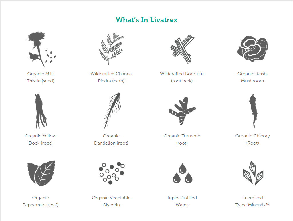 Ingredients in Livatrex liver support
