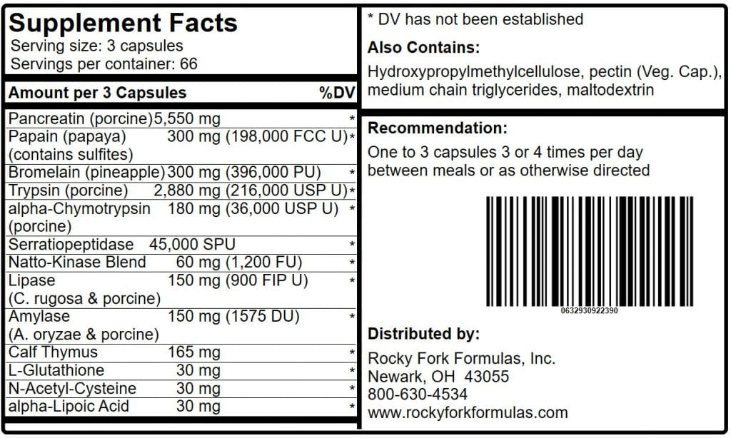 Univase Product Label