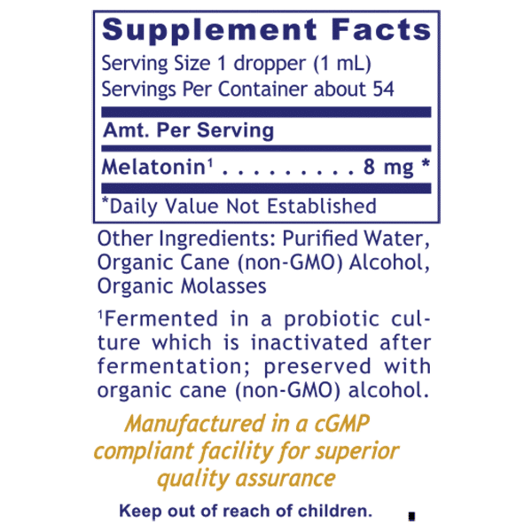 Melatonin-ND ingredient list