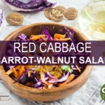 Red Cabbage Salad with Carrots and Walnuts