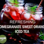 pomegranate sweet orange iced tea