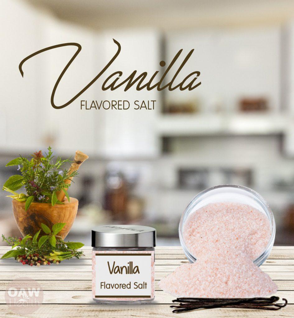 DIY vanilla flavored pink salt