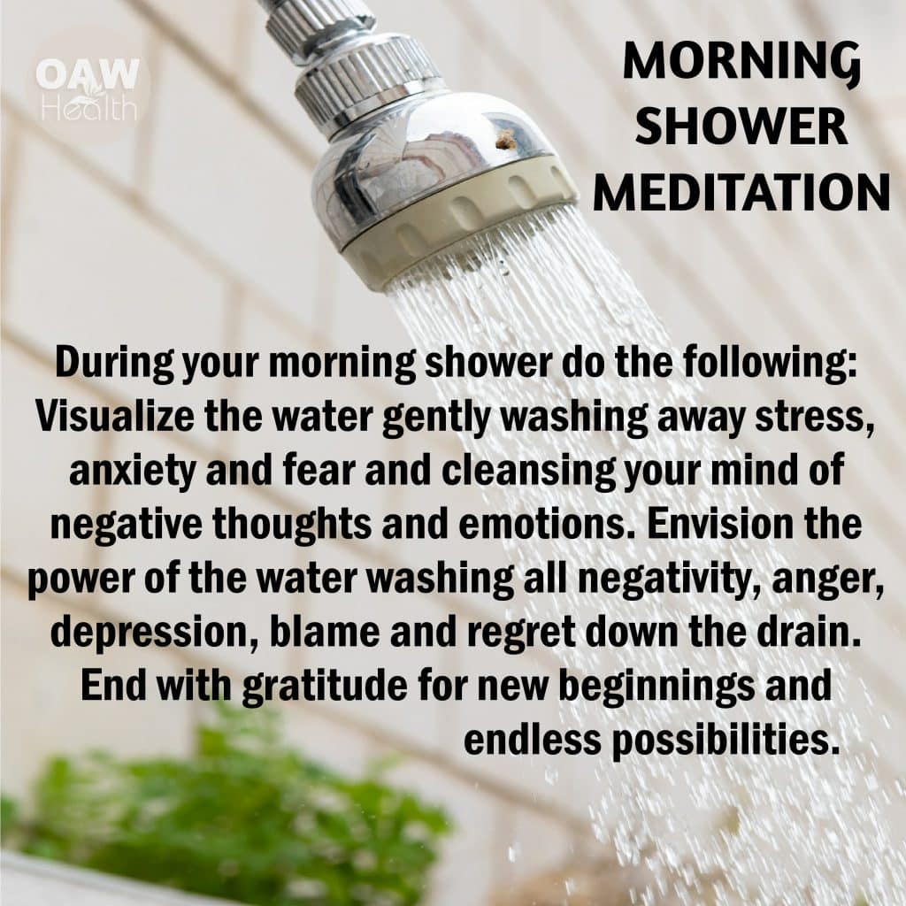 morning shower meditation