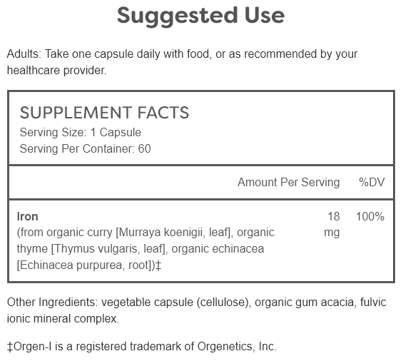 iron fuzion supplement facts