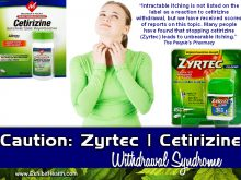 Caution: Zyrtec Withdrawal Side Effect